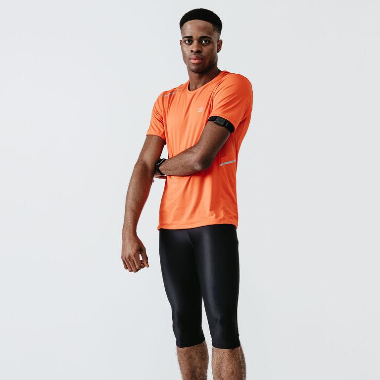 Image of a man in orange T-Shirt