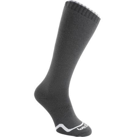 WEDZE - EU 31-34  CHILDREN'S FIRSTHEAT SKIING SOCKS, Charcoal Grey