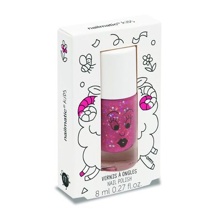 NAILMATIC - Nailmatic Kids Sheepy Nail Polish Raspberry Glitter