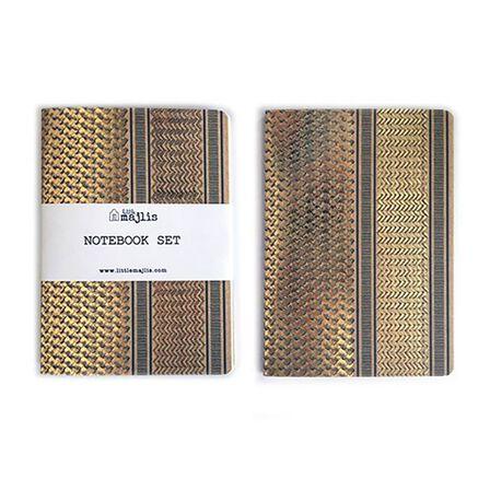 LITTLE MAJLIS - Little Majlis Ghutra Gold A5 Notebook Set Of 2