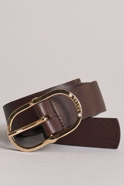 Salsa Jeans - Brown Leather belt with gem buckle