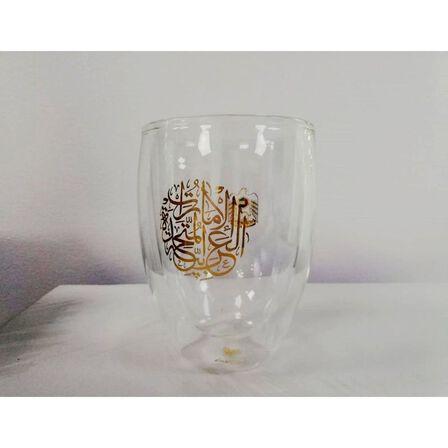 ROVATTI - Rovatti Nevoso Double Glass Water Cup Gold 350ml
