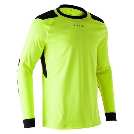 KIPSTA - 2XL  F100 Adult Goalkeeper Jersey, Fluo Lime Yellow