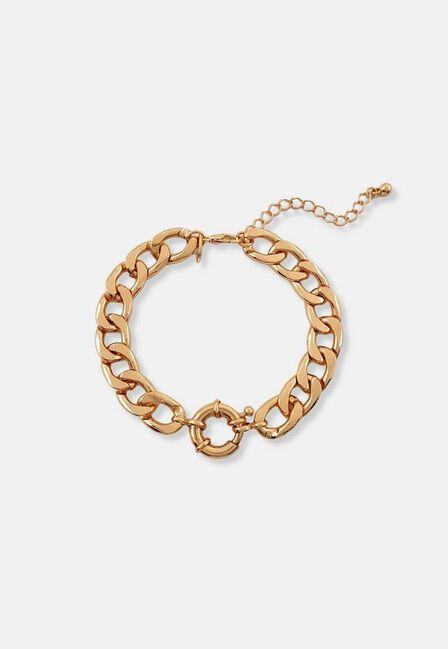 Missguided - Gold Gold Look Spring Clasp Chain Bracelet