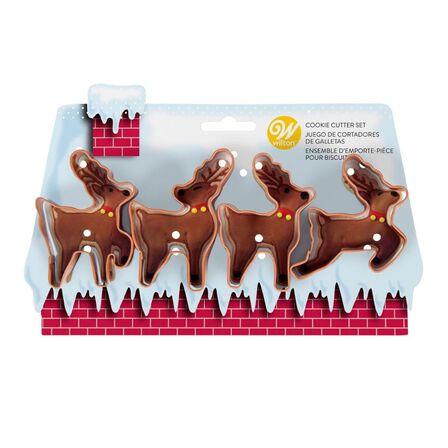 WILTON BRANDS INC. - Wilton Xmas Reindeer Cookie Cutters [Set of 4]