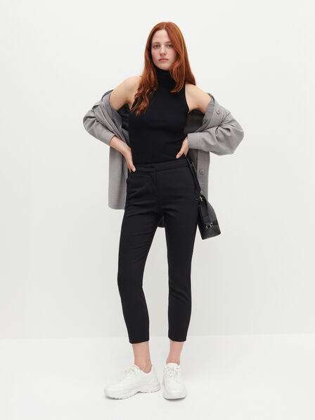 Reserved - Elegant high waisted trousers - Black