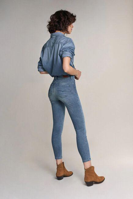 Salsa Jeans - Blue Secret glamour push in capri jeans in rinsed denim