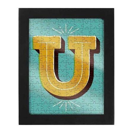 RIDLEYS - Ridleys Alphabet Jigsaw Puzzle with Frame Letter U