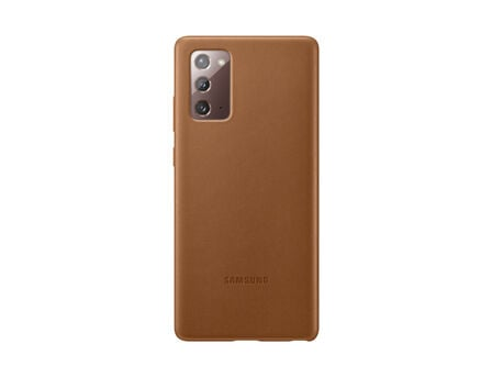 SAMSUNG - Samsung Leather Cover Brown for Galaxy Note20