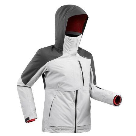 WEDZE - L Women's Freeride Ski Jacket Fr100 - Light Grey