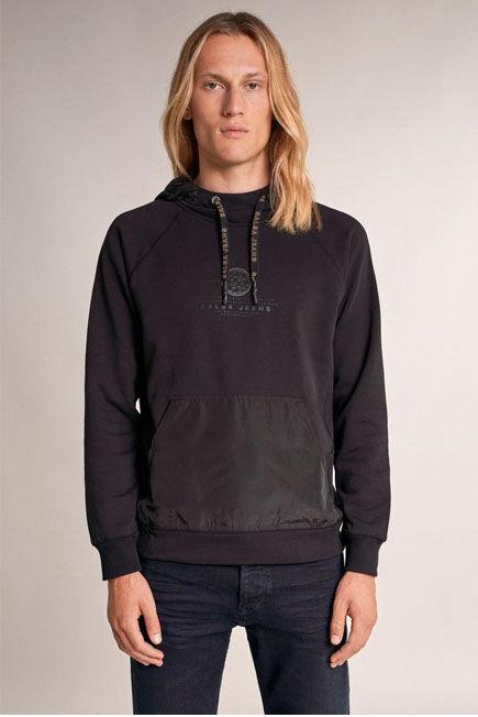 Salsa Jeans - Black Hoodie, with detachable hood