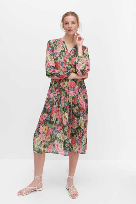 Reserved - Multicolor Floral Dress, Women