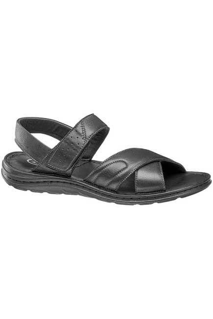 AM SHOE - Black Criss Cross Sandals, Men