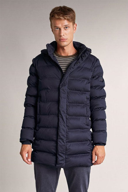Salsa Jeans - Blue Waterproof long jacket