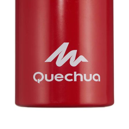 QUECHUA - Hiking flask 500 quick opening top 1 litre aluminium - red