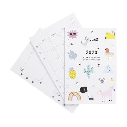 KIKKI.K - kikki.K 2020 Cute Monthly Weekly Diary Refill Lge Be Kind White