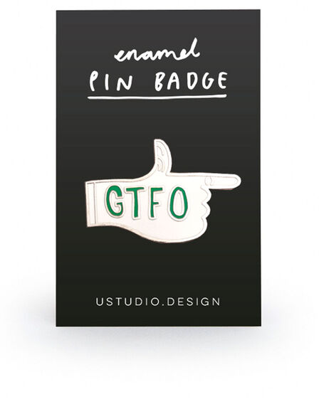 USTUDIO DESIGN LTD - Ustudio Pin Badge GTFO