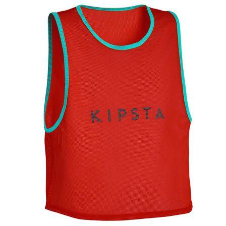 KIPSTA - Kids' Team Sports Bib - Scarlet Red