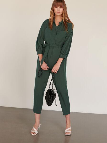 Reserved - Dark Green Tencel™ Lyocell Jumpsuit, Women