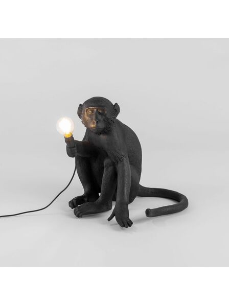 Seletti - Monkey Lamp Sitting Black Outdoor
