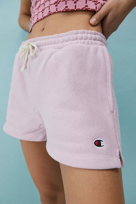 Urban Outfitters - Pink Champion UO Exclusive Jogger Shorts, Women