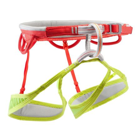 SIMOND - Large  ADULT CLIMBING AND MOUNTAINEERING HARNESS LIGHT - EDGE ORANGE AND YELLOW, Vermilion