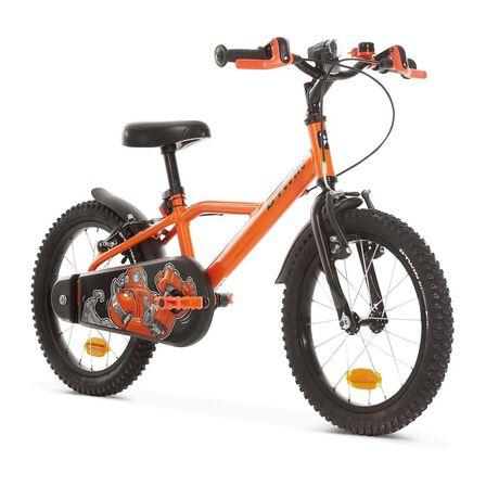 """BTWIN - 16"""" kids' Bike Robot 500 (4.5-6Y) - Orange"""