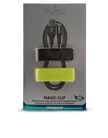 PURO - Puro Magic Clip 2 Multi-Function Cable Organizer 2Pcs Blk/Lime Green