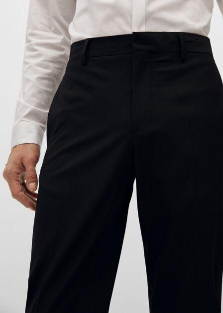 Mango - black Super slim fit suit trousers, Men