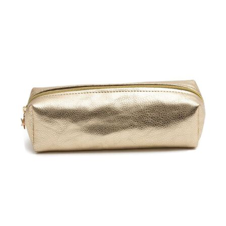 GO STATIONERY - Go Stationery Metallic Light Gold All That Glitters Pencil Case