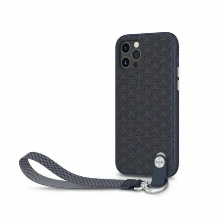 MOSHI - Moshi Altra Slim Hardshell Case With Strap Midnight Blue for iPhone 12 Pro/12