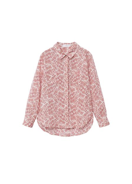 Mango - natural white Printed cotton shirt, Kids Girl