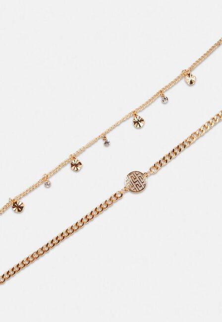 Missguided - Gold Gold Look Geo Chain Bracelet 2 Pack