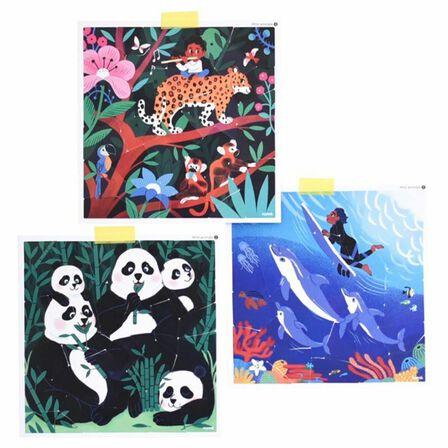 POPPIK - Poppik My Sticker Puzzle Wild Animals Stickers