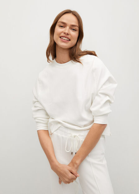 Mango - natural white Drawstring jogger trousers
