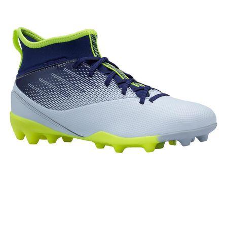 KIPSTA - EU 34  Agility 500 MG Kids' High-Top Football Boots, Foggy Blue