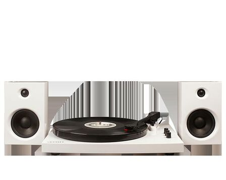 CROSLEY - Crosley T100 Turntable System White With Speakers [Pair]
