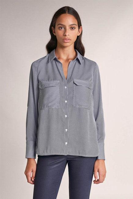 Salsa Jeans - Blue Regular fit denim shirt with texture