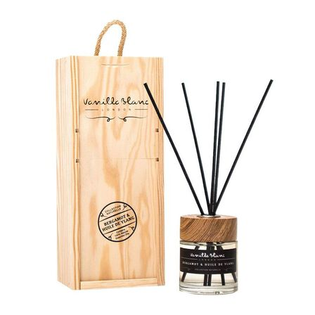 VANILLA BLANC - Vanilla Blanc Bergamot & Huile De Ylang Oil of Ylang Natural Reed Diffuser