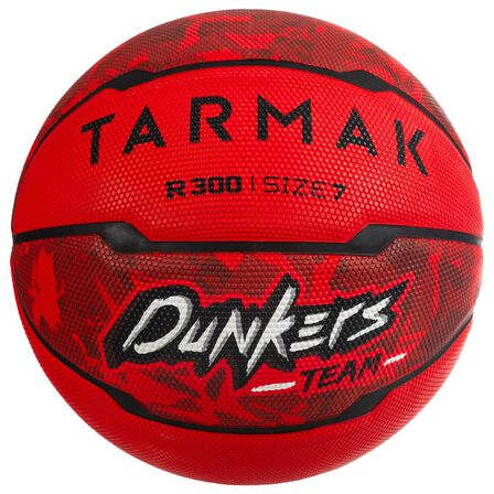 TARMAK - US 7  R300 Basketball Size 7, Beginner Players Ages 13 & Up, Red