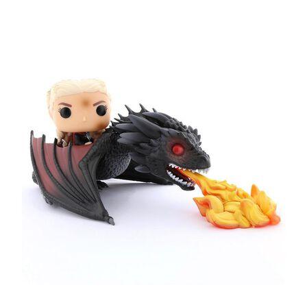FUNKO TOYS - Funko Pop Rides Game Of Thrones Daenerys On Fiery Drogon Vinyl Figure