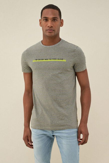 Salsa Jeans - Gray Dry denim2GO t-shirt