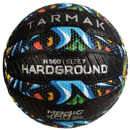 TARMAK - US 7 Adult Puncture-Proof Grippy Basketball R500 - Graffiti. - Black