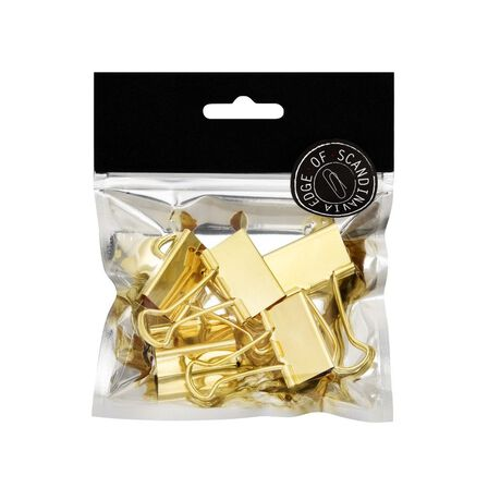 BNT STATIONERY - BNT 32mm Edge Paper Binder Gold [5 Pack]