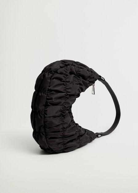 Mango - black Ruched baguette bag