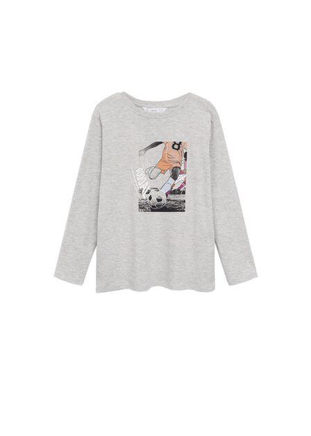Mango - medium grey Organic printed cotton t-shirt