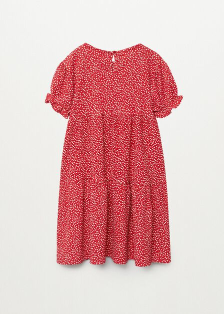 Mango - red Textured printed dress