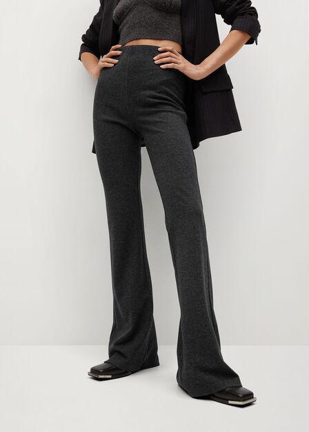 Mango - dark grey Flared knitted leggings