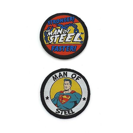 FABRIC FLAVOURS - Fabric Flavours Badgeables Medium Man Of Steel Duo Badges [2 Pack]