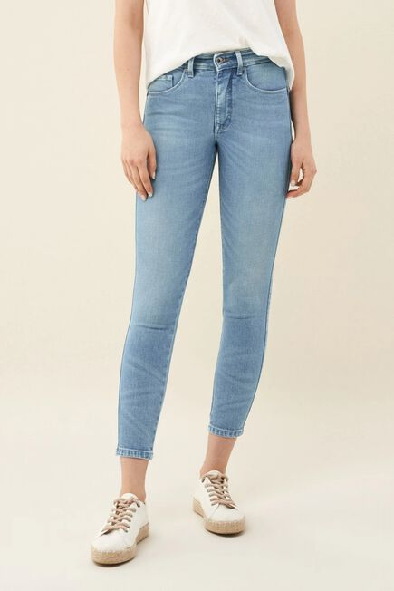 Salsa Jeans - Blue Push In Secret Glamour cropped light jeans